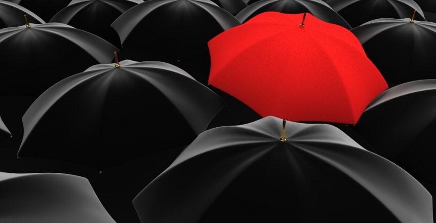 REd umbrella med